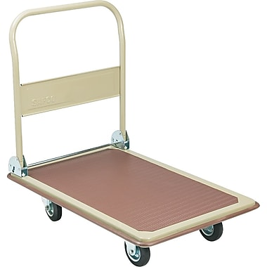 Safco Office Hand Truck, 36in. H x 24in. W x 34in. D, 900 Pound Capacity