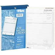 Tops® Job Work Order Pads, 5-1/2 x 8-1/8, 2 Part