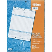 "Tops® Snap-Off  Bill Of Lading Form, 8-1/2"" x 11"", 4 Part"