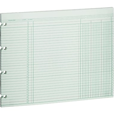 Wilson Jones Single Page Columnar Sheets, 9 1/4in. x 11 7/8in., 3 Columns