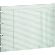 "Wilson Jones® Single Page Columnar Sheets, 9 1/4"" x 11 7/8"", 3 Columns"