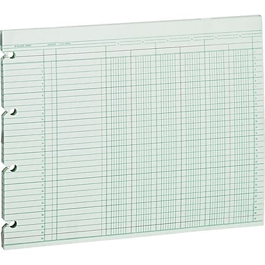 Wilson Jones Single Page Columnar Sheets, 9 1/4in. x 117/8in., 6 Columns