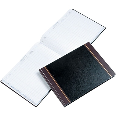 Wilson Jones Visitor Book, Black, 9-1/2in. x 12-1/2in.