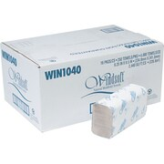 Windsoft® Multifold Paper Towels, 1-Ply, 9 1/5 x 9 2/5, Natural, 4,000/Ct
