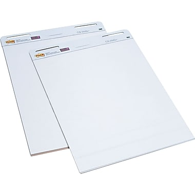 Post-it Super Sticky 30in. x 25in.,  Easel Pad, White, 2/Pack