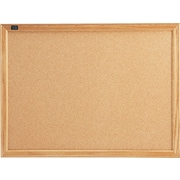 Quartet® Cork Bulletin Board, Oak Finish Frame, 2'W x 1.5'H