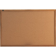 Quartet® 3' x 2' Cork Bulletin Board with Oak Finish Frame