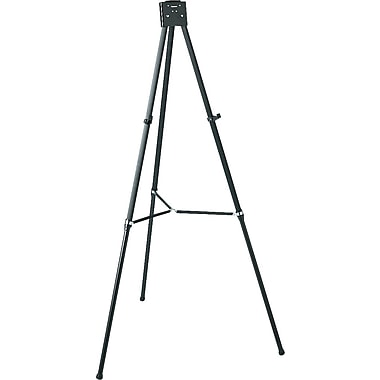 Quartet® Black Aluminum Heavy-Duty Telescoping Display Easels