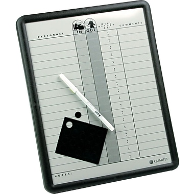 Quartet® In/Out Personnel Board, 11in. x 14in.
