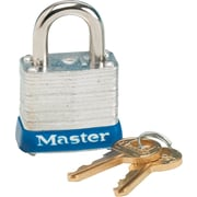 Master Lock® MLK7D Non-Rekeyable Laminated Padlock, Keyed Different