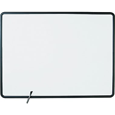 Quartet® Contour Whiteboard, 4' x 3', Black Frame (7554)
