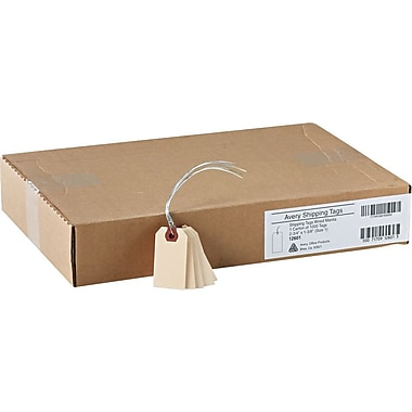 Shipping Tags With Wire, #1, 2-3/4