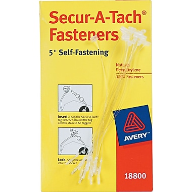 Avery® Secur-A-Tach® Fasteners, 5in. Long