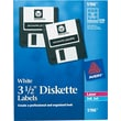 Avery 5196 Permanent Laser Labels for 3 1/2in. Diskettes, 630/Pack