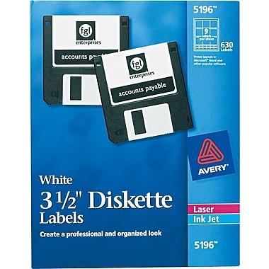 Avery Laser Labels for 3 1/2in. Diskettes