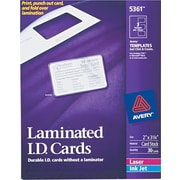 Avery® 5361 Laminated I.D. Card, White
