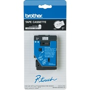 "Brother 1pk 3/8"" Black on White tape"