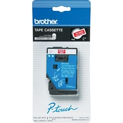 Brother 1pk 3/8 White on Red tape