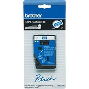 "Brother Laminated Tape for PT-6/25/150/170, White on Blue, 3/8""W x 25'L"