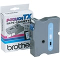 Brother 1in. Blue on White tape