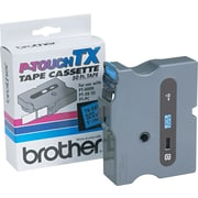 "Brother 1"" Black on Blue tape"