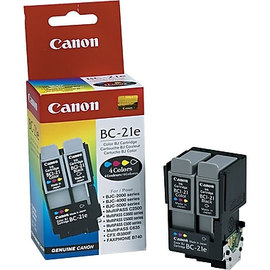 Canon BC-21e Black and Color Ink Cartridges (0899A003), Combo 2/Pack