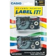 Casio Labeling Tape, 3/8in., Gold on Black