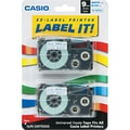 Casio Labeling Tape, 3/8in., Blue on White