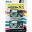 Casio Label Maker Tape, 9mm, black on yellow