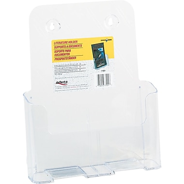 Deflecto Rigid Literature Rack, Magazine Size, Clear, 9in. x 1 3/4in. x 10 3/4in.