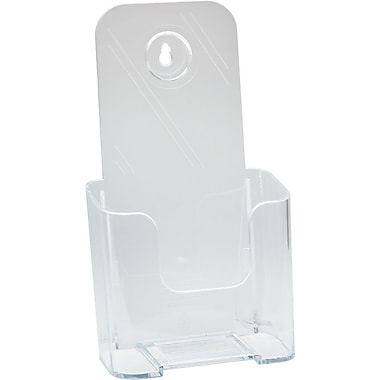 Deflecto Rigid Literature Rack, Leaflet Size, Clear, 4 3/8in. x 3 1/4in. x 7 3/4in.
