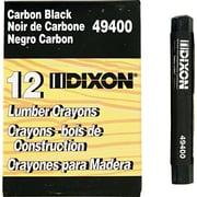 Dixon® Lumber Crayons, Carbon Black, 1/Dozen (49400)