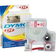 Dymo 45015 1/2 D1 Label Maker Tape, Red on White