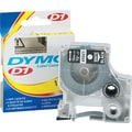 DYMO 1/2in. x 23ft D1 Label Maker Tape, White on Black