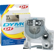 DYMO 1/2 x 23ft D1 Label Maker Tape, White on Black