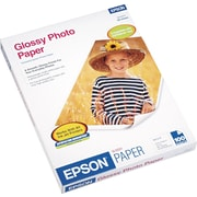 "Epson® Glossy Photo Paper, Bright White, 8 1/2""(W) x 11""(L), 100/Pack"