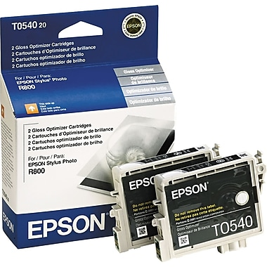 Epson 54, Gloss Optimizer Ink Cartridges, 2 Pack (T054020)