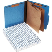Oxford Six-Section Colored PressGuard Classification Folders, Light Blue, 10/Box