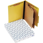 Oxford Six-Section Colored PressGuard Classification Folders, Yellow, 10/Box