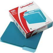 Esselte Top Tab File Folders, 1/3 Tab Cut, Asst Pos, Letter, Teal