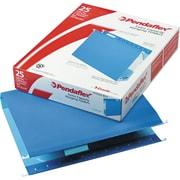 "Pendaflex® Box-Bottom Colored Hanging Folders, Letter, Blue, 2"" Expansion, 25/Box"