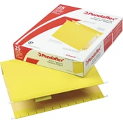 Pendaflex® Box-Bottom Colored Hanging Folders, Letter, Yellow, 2 Expansion, 25/Box