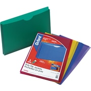 Staples® Poly File Jackets, Legal, Assorted, 5/Pack
