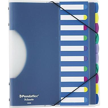 Pendaflex PileSmart® Project Sorter, Poly, 10 Dividers, Blue (50995)