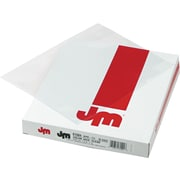 Color Jacs Transparent File Jackets, Letter, Poly, Clear, 50/Box