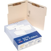 Pendaflex® Manila Fastener Folders, Letter, Positions 1 & 3, 50/Box