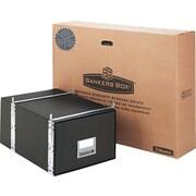 "BANKERS BOX® STAXONSTEEL® Storage Drawers, Legal, Black, 10 1/2""H x 15""W x 24""D, 6/Ct"