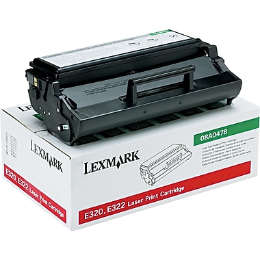 Lexmark™ 08A0478 Black Toner Cartridge, High Yield