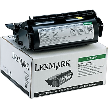 Lexmark 12A5845 Black Return Program Toner Cartridge, High Yield
