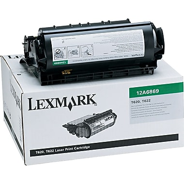 Lexmark 12A6869 Black Return Program Toner Cartridge, High Yield